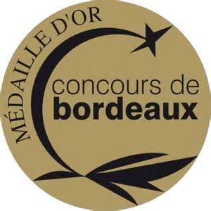 """Médaille d'or au """"Concours des Vins d'Aquitaine"""" à Bordeaux en 2012"""